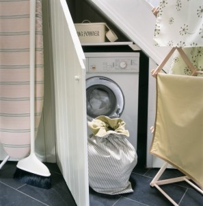 No room for a utility room make space under your stairs hippobag - Tumble dryer for small space pict ...