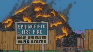 Simpsons springfield tyre fire
