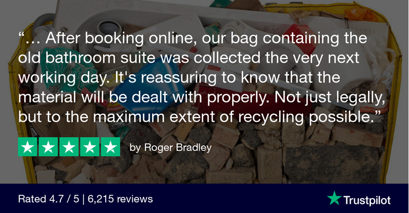 Bathroom Suite Disposal with HIPPOBAG - 5-Star Review